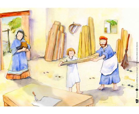 Bildkarten Der zwoelfjaehrige Jesus im Tempel-2