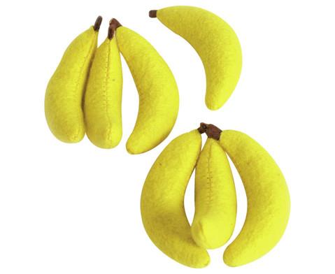 Filz-Bananen 7 Stueck  ca 8 cm-1