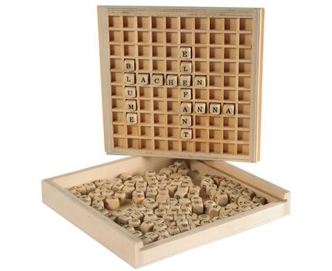 Woerter legen aus Holz