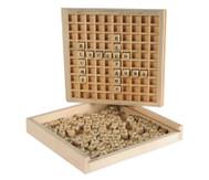 Wörter legen aus Holz