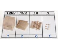 edumero Holz Dezimalsystem Satz