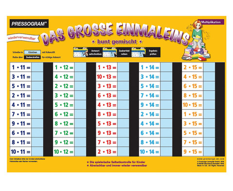 Zaubertafel Grosses 1 x 1-1
