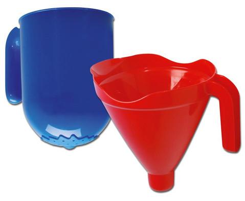 Trichter-Sieb-Set rot-blau