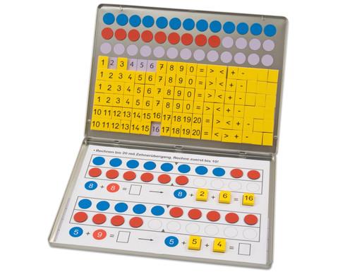 1 2 3  Zahlenzauberei Rechen-Magnetbox mit 30 Arbeitsblaettern-1