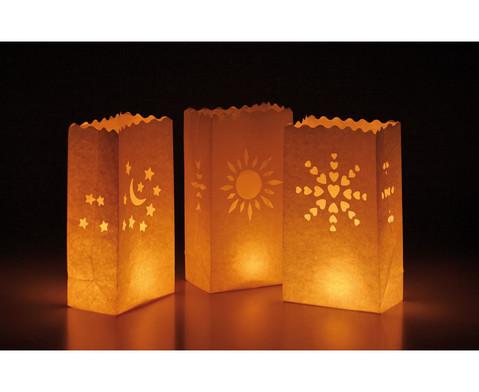 10 Papier-Lichttueten mit Motiv