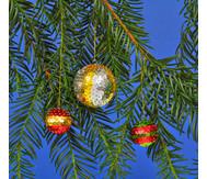 Pailletten-Weihnachtskugel-Set