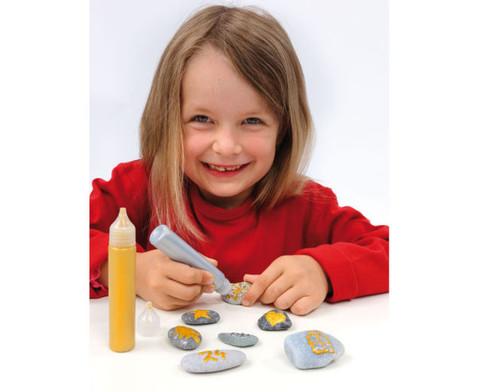 3D Perlen-Pen Gold und Silber-3
