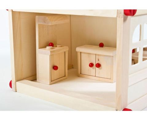 Puppenhaus mit Moebeln und Puppen-2