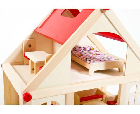 Puppenhaus mit Moebeln und Puppen-5