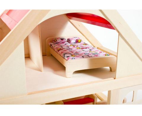 Puppenhaus mit Moebeln und Puppen-6