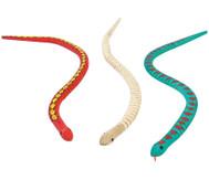 Holzschlangen, 6 Stück
