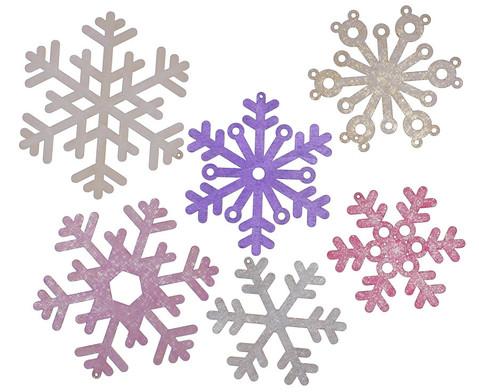 Schneeflocken aus Holz-2