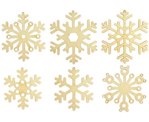 Schneeflocken aus Holz-1