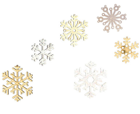 Schneeflocken aus Holz-3
