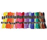 Stickgarn Set,  25 Farben je 8 Meter