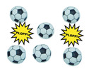 Fussball Spring-Plopper 6er-Set-1
