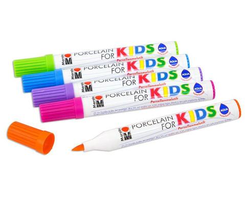 Marabu Porzellanstifte Kids Trendfarben 5er-Set