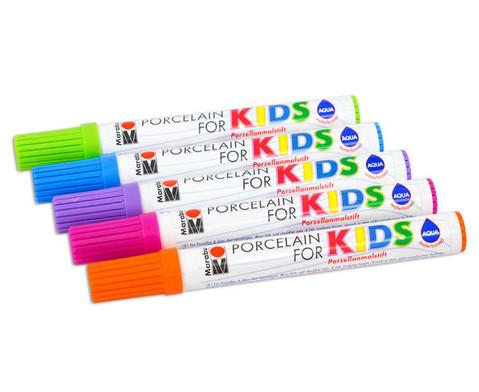 Porzellanmalstifte Kids Trendfarben-2