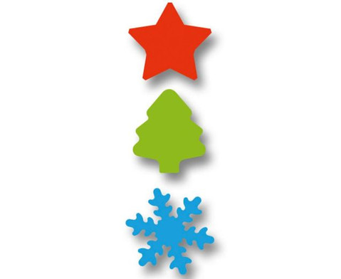 Motivstanzer Weihnachten 3 Stueck-3