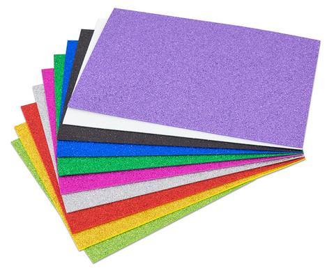 Glitzer Moosgummi 10 Farben-1