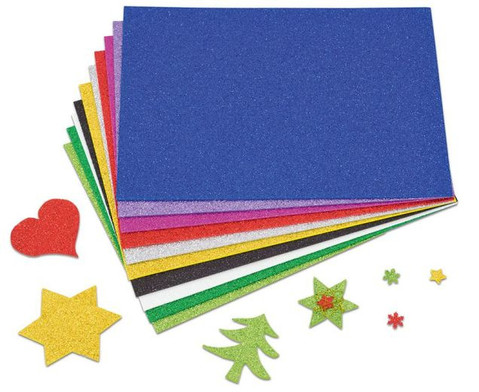 Glitzer Moosgummi 10 Farben-2