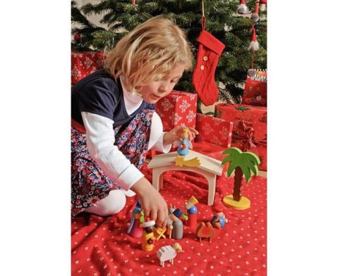Weihnachtskrippe aus Holz-3