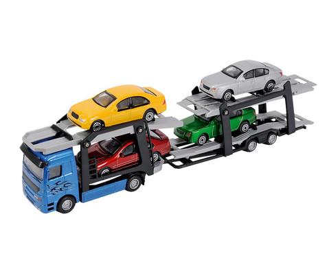 Truck mit 4 Autos-1
