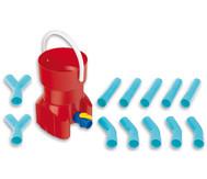 Rohrleitungs-Bausystem mit Wasserspeicher, 14-teilig