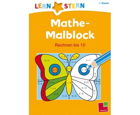 Lernstern - Mathe Malblock Rechnen bis 10-1