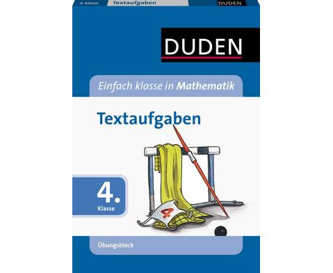 Duden Mathematik UEbungsblock - Textaufgaben 4 Klasse-1