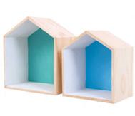 Holzbox Haus, 2er Set