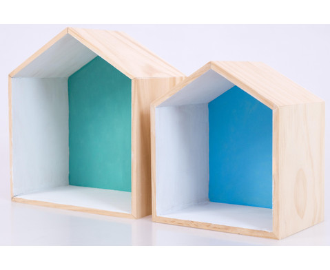 Holzbox Haus 2er Set-6