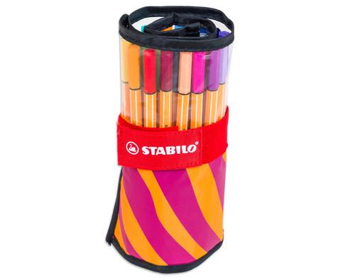 Stabilo Fineliner Point 88 25 Stueck im Rollmaeppchen-4
