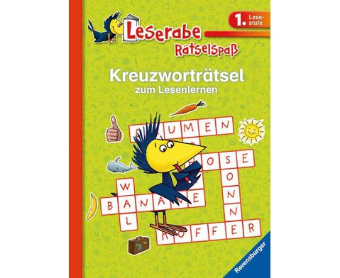 Leserabe Kreuzwortraetselspass 1 Lesestufe