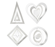 3D Aufhänger Ornamente, 16 Stück