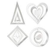 Grafik Aufhänger 3D-Ornamente, 16 Stück