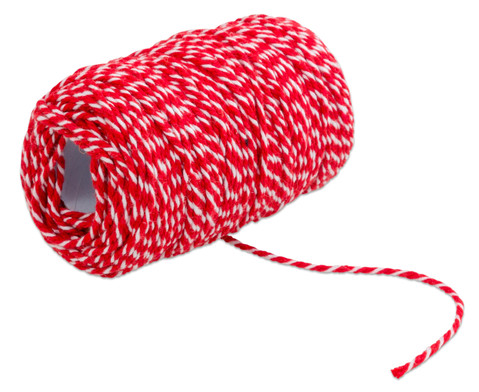 Dekoschnur 50 m rot-weiss 11 mm dick-6