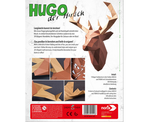 Papershape Hirsch-3