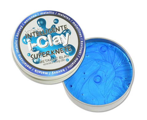 i-Clay Knete metallic blau-1