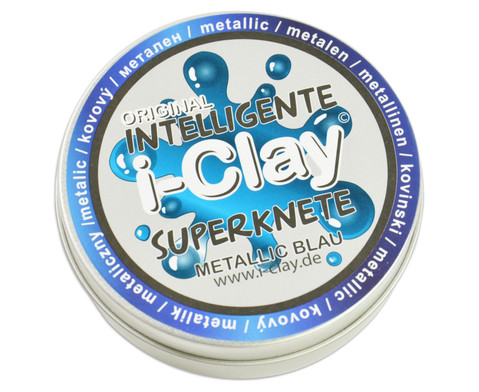 i-Clay Knete metallic blau-3