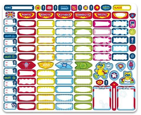Magnetischer Stundenplan Schulhelden-2