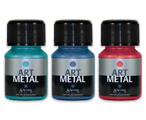 Metallic Farben 3er-Set tuerkis rot blau