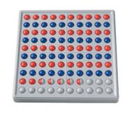 ABACO 100, rot / blau, Reihen