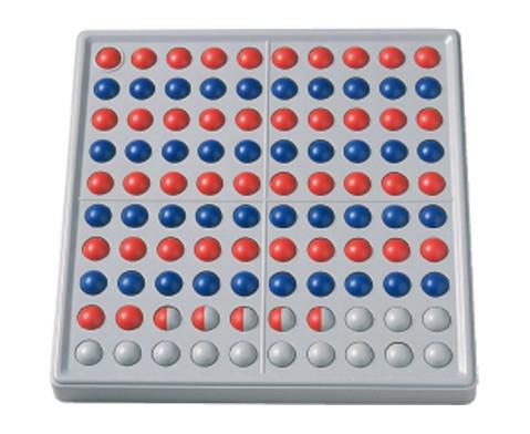 Abaco 100 rot-blau Reihen