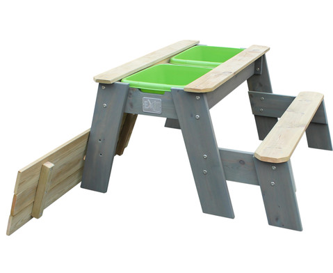Sand- und Wasserspieltisch mit Bank