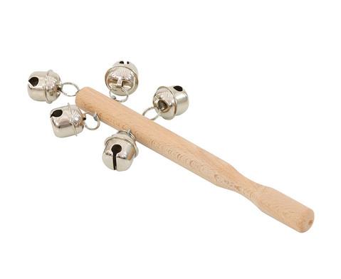 Betzold Musik Holzstab mit 5 Schellen