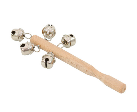 Holzstab mit 5 Schellen