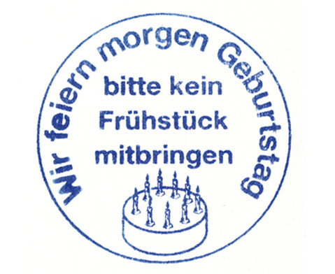 Betzold Wir feiern Geburtstag - Stempel
