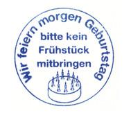 Wir feiern Geburtstag - Stempel