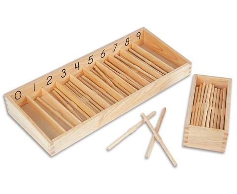 Staebchen-Box mit 19 cm langen Staebchen